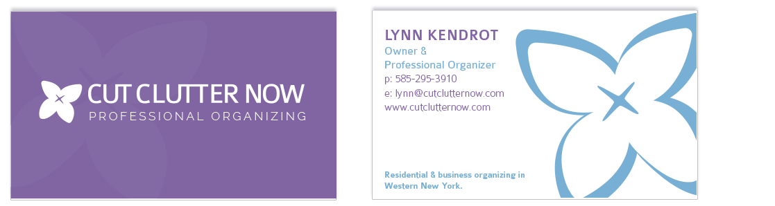 Cut clutter now visual identity branding nicole kendrot user ccn business cards colourmoves